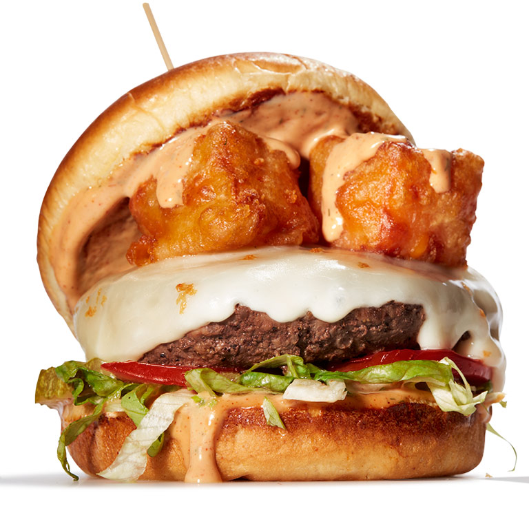 Cheese Curd Cheeseburger